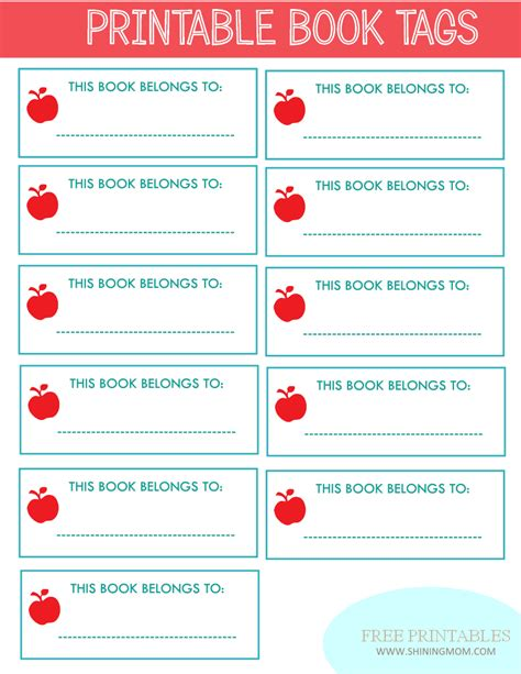label templates for school books 6 best images of free printable book labels school book