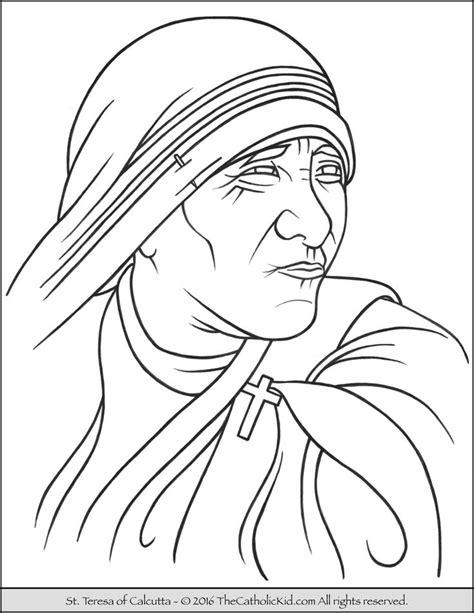 coloring page of catholic saints 28 best catholic saints coloring pages images on