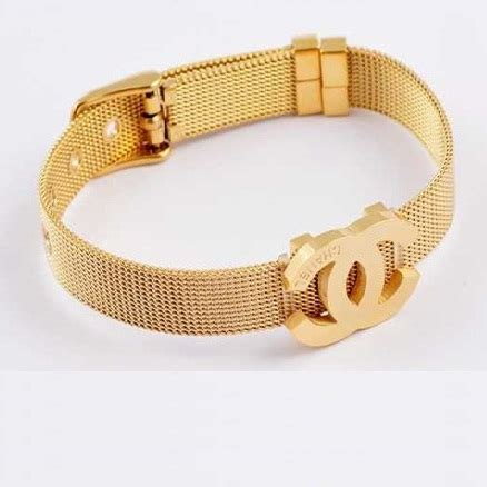 Gelang Channel Titanium 2 gelang tangan gold channel bracelet cincin