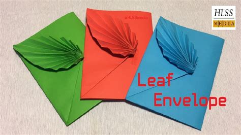 how to make leaf envelope with paper diy origami