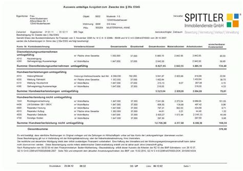Muster Formular Nebenkostenabrechnung Verwaltung Spittler Immobiliendienste Gmbh