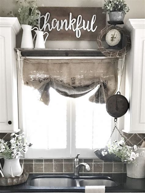 easy diy kitchen curtains i could make that diy easy burlap sack curtains bless this nest