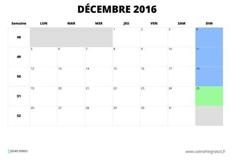 Calendrier Decembre 2016 Janvier 2017 Calendrier D 233 Cembre 2016 224 Imprimer