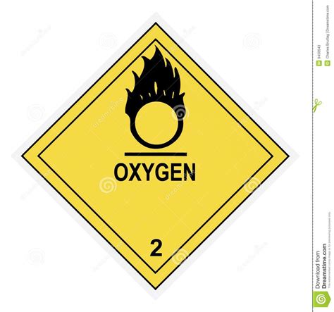 Blue From O2 Less Treacherous Than Black by Oxygen Warning Label Stock Photos Image 9456643