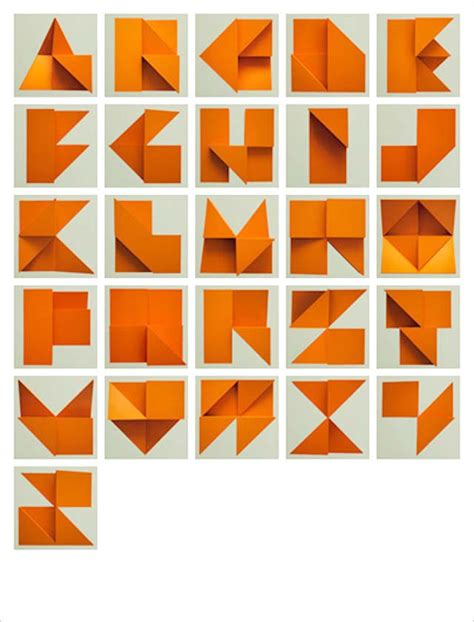 Origami 3d Letters - origami alphabet relief by tim fishlock strictlypaper