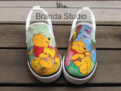Custom Flat Shoes Ajl 31 gifts pooh sneakers from brandastudio on etsy