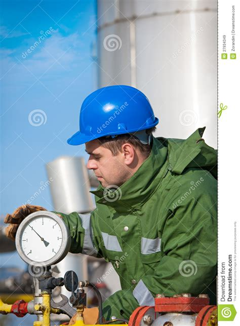 Production Operator by Gas Production Operator Royalty Free Stock Images Image 27934349