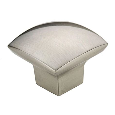 square brushed nickel cabinet pulls richelieu hardware 1 1 2 in satin nickel simple soft