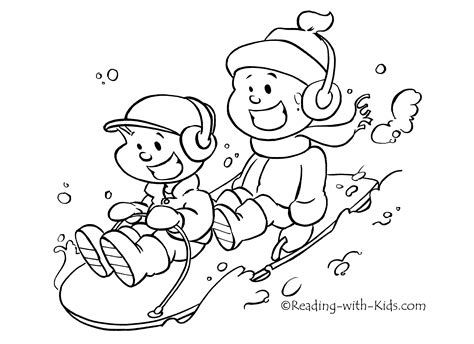 winter themed coloring pages 4543