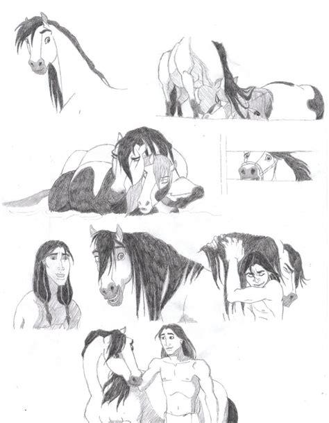 spirit 2 stallion of the cimarron drawings spirit stallion of the cimarron part 2 by blood runs thick