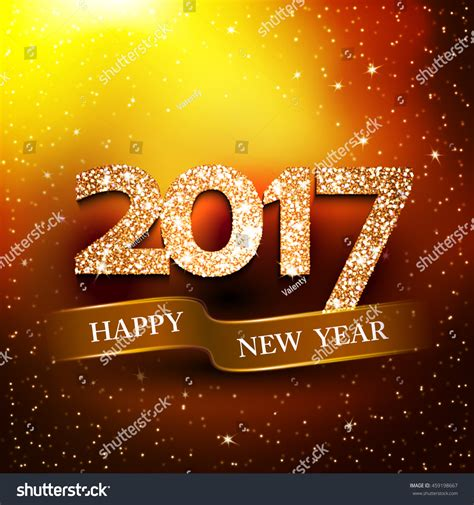 new year wishes vector happy new year 2017 gold background new year s greetings