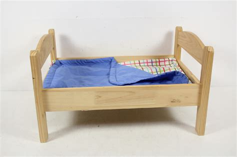 wooden doll bed ikea wood wooden doll toy bed with linen kitty american