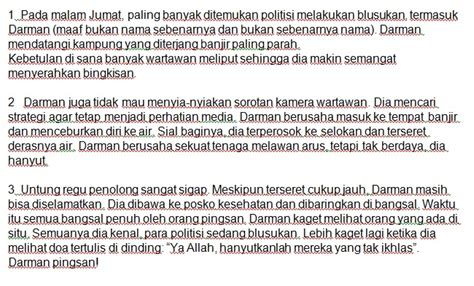 tugas bahasa indonesia membuat teks anekdot tunjukkan tahap krisis pada teks anekdot tersebut kalian
