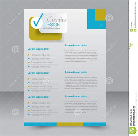 editable brochure templates brochure design flyer template editable a4 poster stock