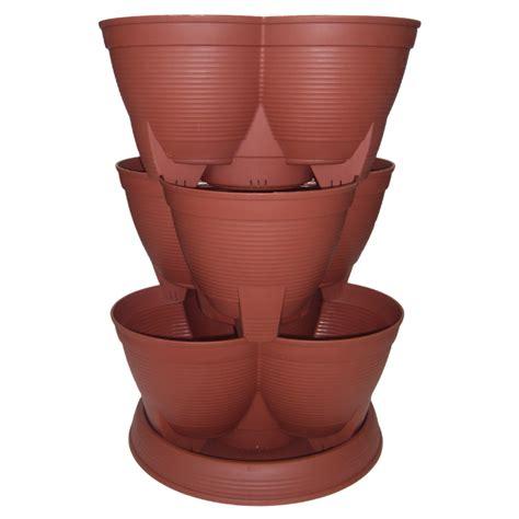 stack  pots maxi  heavy duty planter trolley