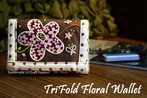 tri fold wallet card template trifold wallet free sewing pattern tutorial craft