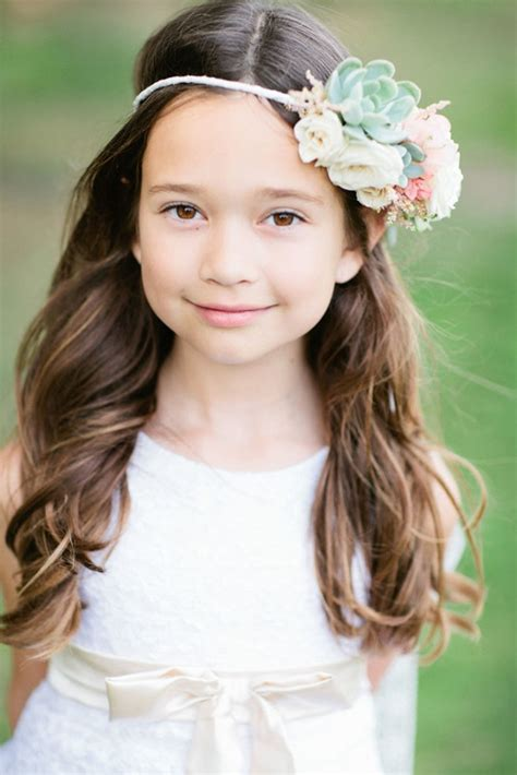 flower girl hairstyles curly 15 gorgeous flower girl hairstyles loose waves girl