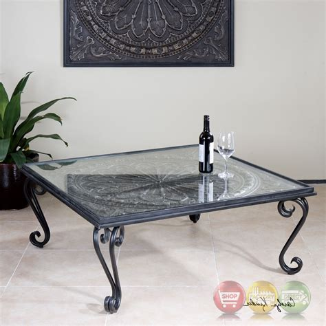 black tempered glass coffee table ottavio black and silver forged iron coffee table with