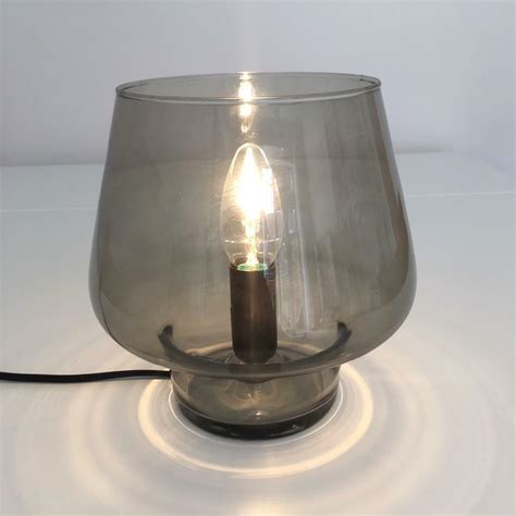 habitat lyss smoked glass table lamp  horsham west