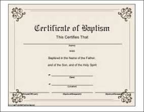 example of catholic baptism certificate