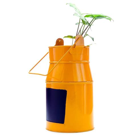 Milk Can Planter by Expression Milk Can Metal Planter Greenmylife Anyone Can Garden
