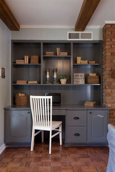 built in desk with upper cabinets as seen on hgtv s fixer upper for a someday maybe home