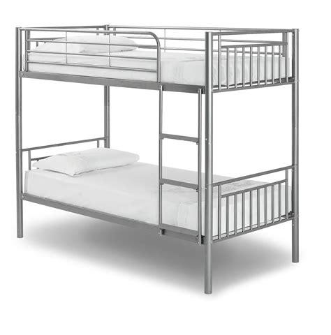 metal bunk bed new saffron metal bunk bed with 2 mattresses free p p ebay