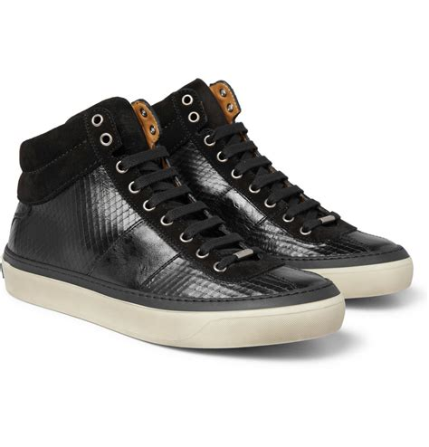 jimmy choo sneakers jimmy choo belgravia scored leather high top sneakers