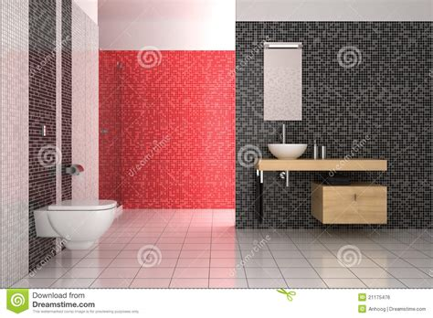 black red and white bathroom modern bathroom with black red and white tiles royalty free stock image image 21175476