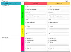 lesson plan template for elementary teachers a s plan the greg