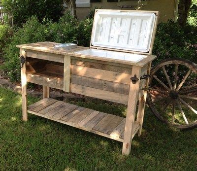Patio Cooler Cart Barn Wood Cooler Console Table Ice Chest Sideboard