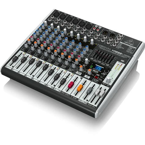 Mixer Audio 16 Channel behringer xenyx x1222usb 16 channel mixer with usb audio interface