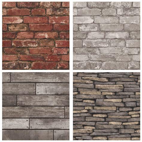 wallpaper grey brick rustic brick effect wallpaper 10m silver grey new ebay