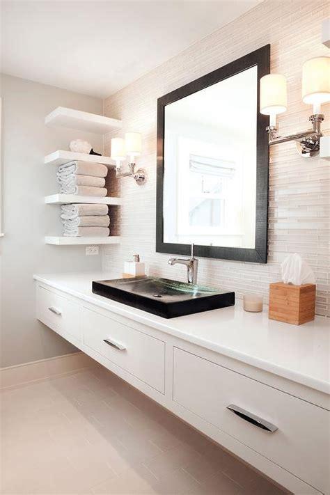floating double vanity modern bathroom