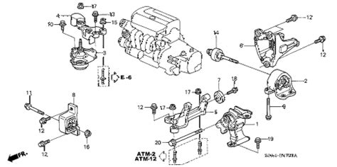 2003 honda crv parts diagram honda store 2003 crv engine mounts at 2wd parts