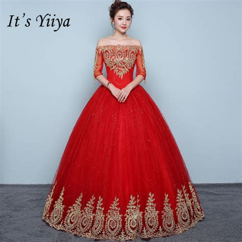 boat neck dress frock it s yiiya vintage embroidery red wedding dresses sexy