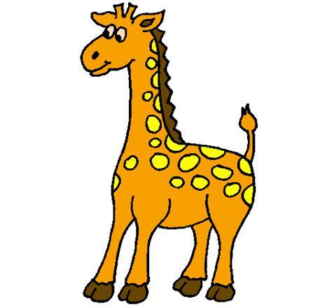 imagenes de jirafas animadas con frases desenho de girafa pintado e colorido por usu 225 rio n 227 o