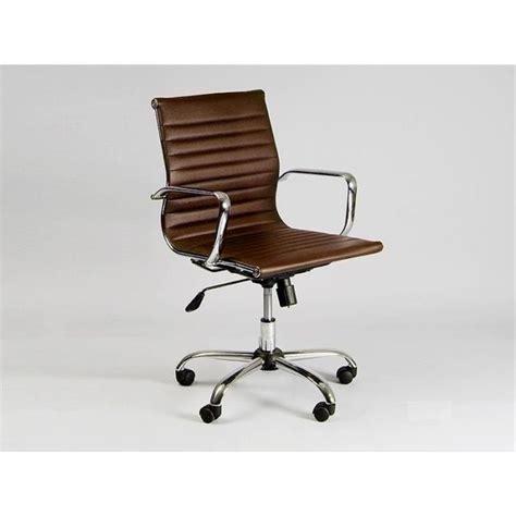 chaise de bureau marron chaise basse de bureau design marron achat vente