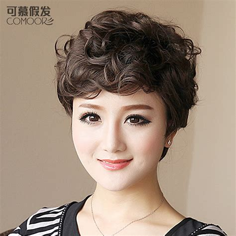 short hairstyles with curly hair for oblong shaped face