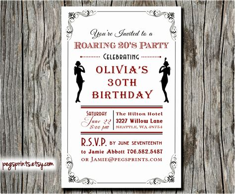 6 Roaring Twenties Invitation Template Lyeuw Templatesz234 Roaring 20s Invitation Template Free