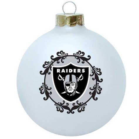 oakland raiders christmas tree ornaments