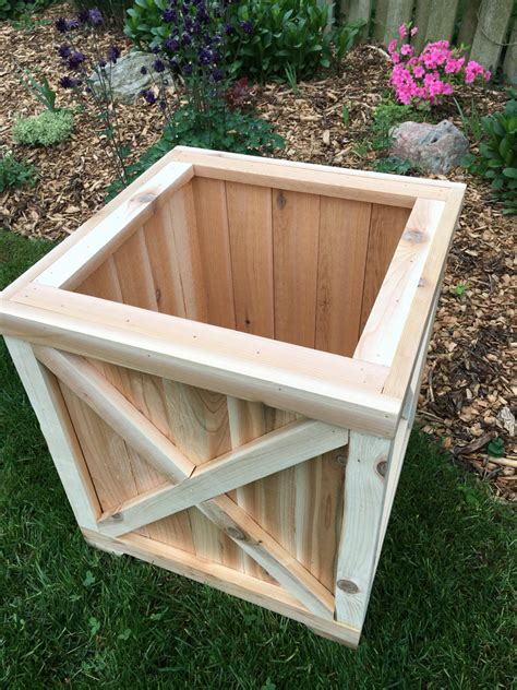 Cedar Planter Box Planter Wood Planter Cedar Box Outdoor Wood Cedar Planter Box