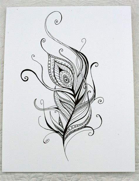 henna feather tattoo designs henna style peacock feather 30 00 via etsy