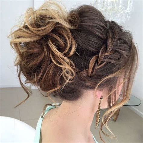 formal hairstyles messy bun with braid 40 most delightful prom updos for long hair in 2017