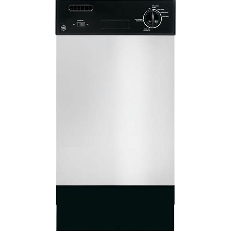 ge 18 in front dishwasher in stainless steel with
