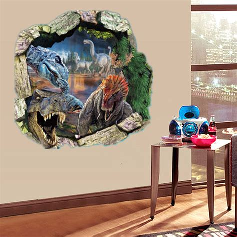 dinosaur bedroom accessories uk for jurassic park t rex dinosaur 3d wall sticker decal