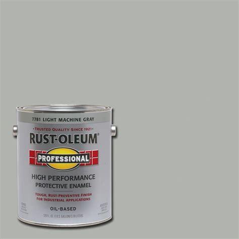 light machine rust oleum professional 1 gal light machine gray gloss