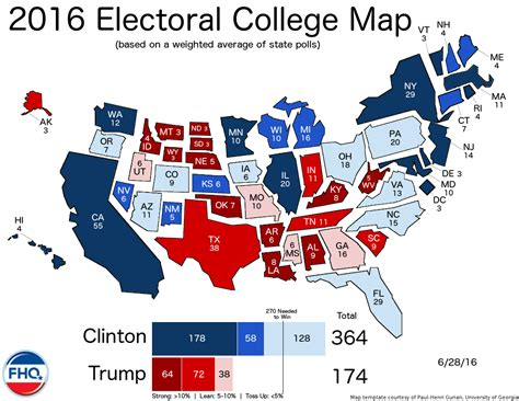 state with most owners 2016 frontloading hq the electoral college map 6 28 16
