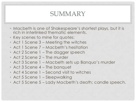 major themes in macbeth act 2 macbeth revision