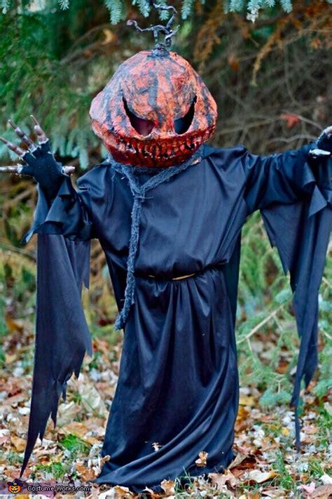 homemade pumpkin head costume